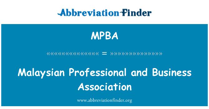 MPBA: Malaysian Professional and Business Association