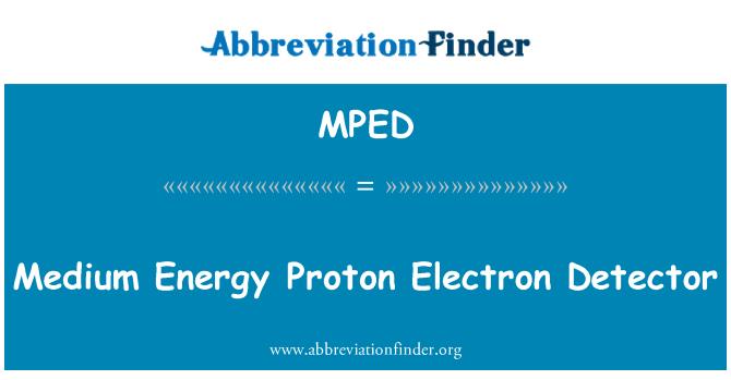 MPED: Orta ölçekli enerji Proton elektron dedektörü