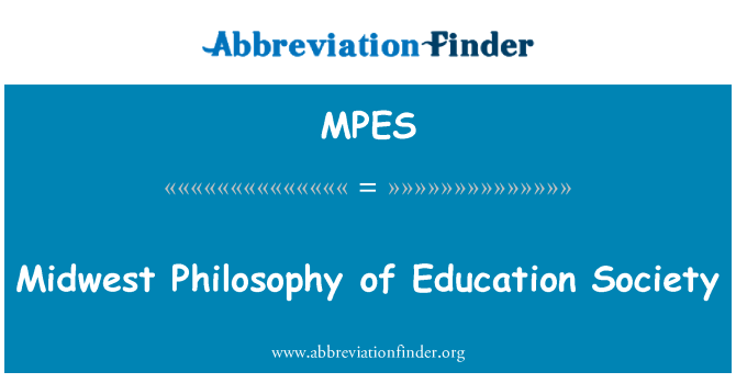 MPES: Midwest Philosophy of Education Society