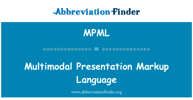 MPML: Multimodal tanıtımı Markup Language