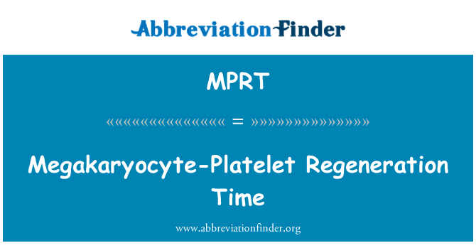 MPRT: Vrijeme regeneracije megakaryocyte trombocita