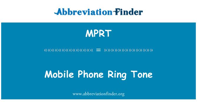 MPRT: Mobilní telefon vyzváněcí tón