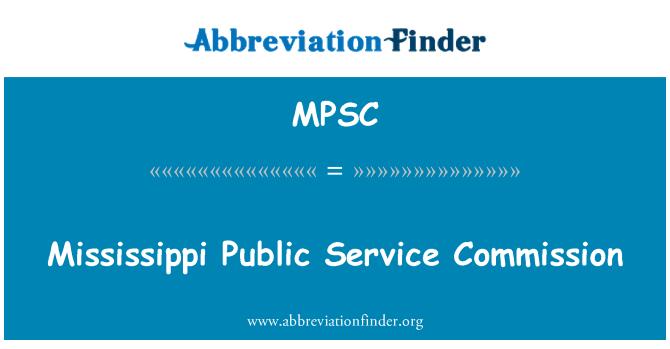 MPSC: Mississippi Public Service Commission