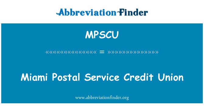 MPSCU: Miami Postal Service Credit Union