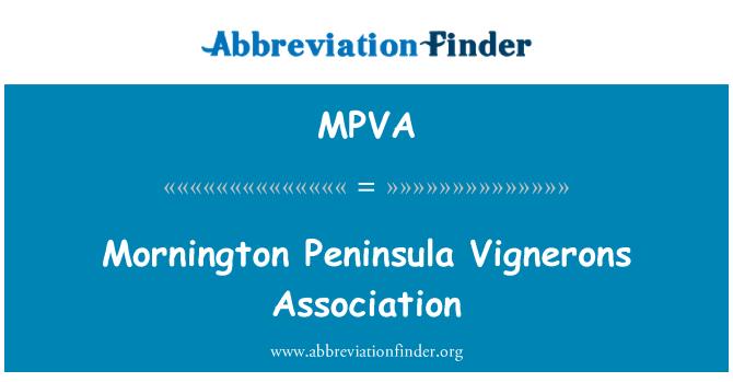 MPVA: Mornington Peninsula Vignerons Association