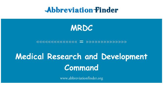 MRDC: La investigación médica y comando de desarrollo
