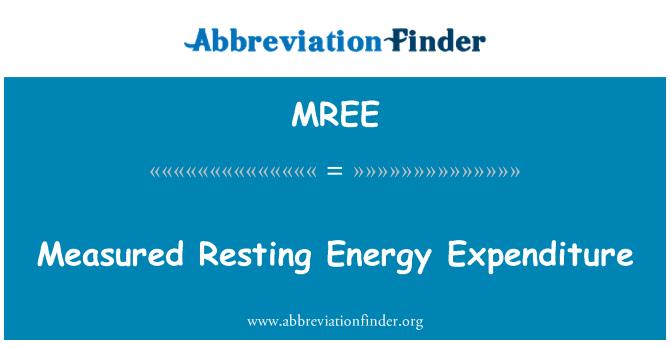 MREE: Measured Resting Energy Expenditure