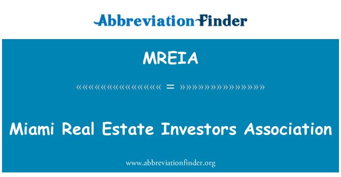 MREIA: Miami Real Estate Investors Association