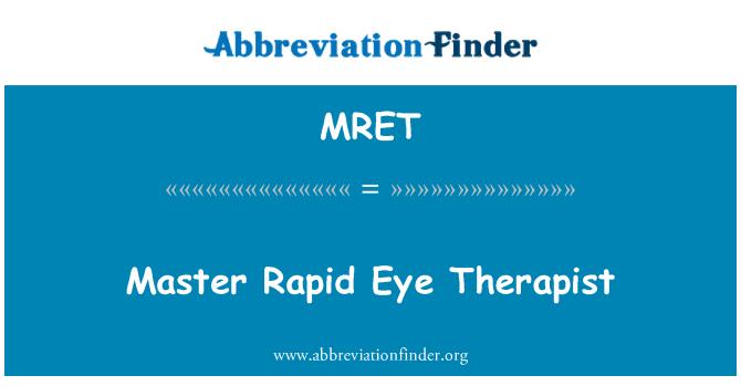 MRET: Terapeuta Master Rapid Eye