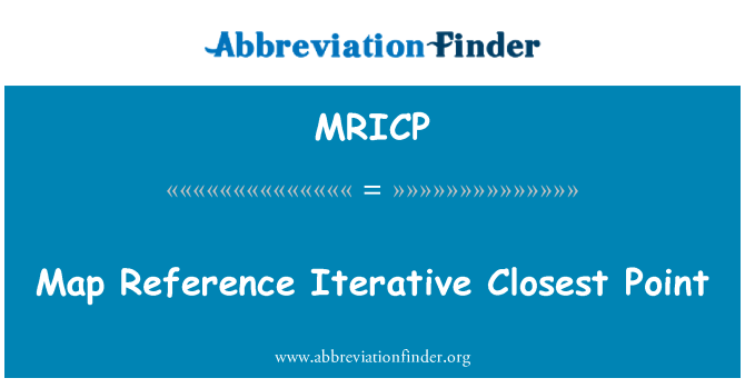 MRICP: Map Reference Iterative Closest Point