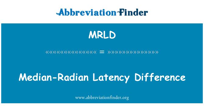 MRLD: Median-Radian Latency Difference