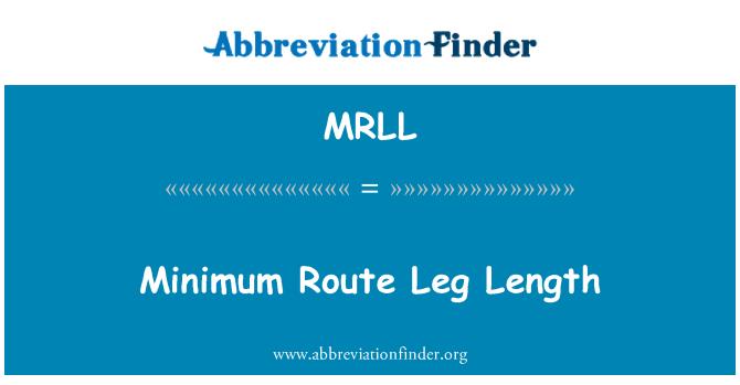 MRLL: Minimum rota bacak uzunluğu