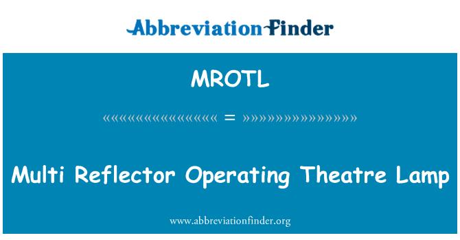MROTL: Multi Reflector Operating Theatre Lamp