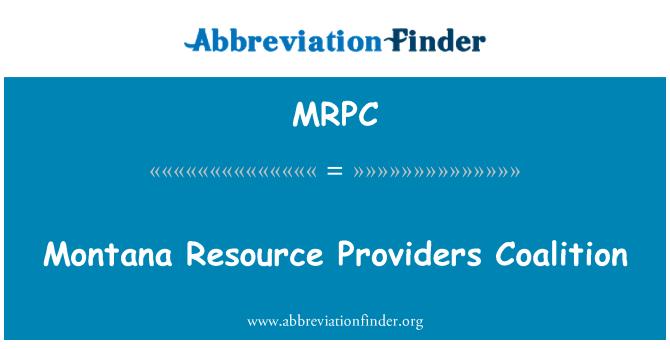 MRPC: Montana ressursi pakkujad koalitsiooni