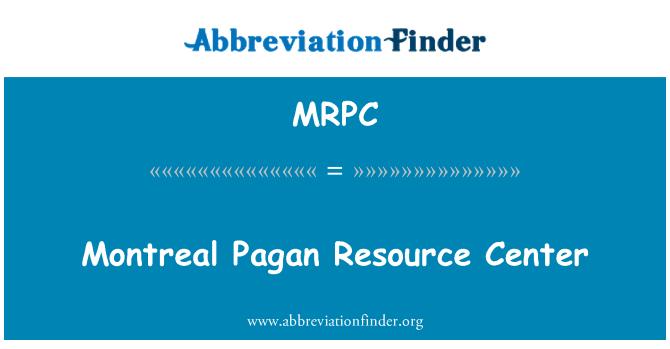 MRPC: Montreal Pagan Kaynak Merkezi