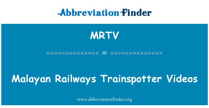 MRTV: Malayan Railways Trainspotter Videos