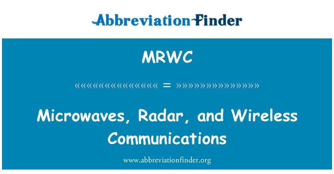 MRWC: Microondas, Radar y comunicaciones inalámbricas