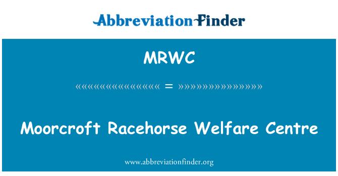MRWC: Κέντρο πρόνοιας Moorcroft άλογο κούρσας