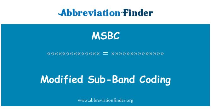 MSBC: Modified Sub-Band Coding