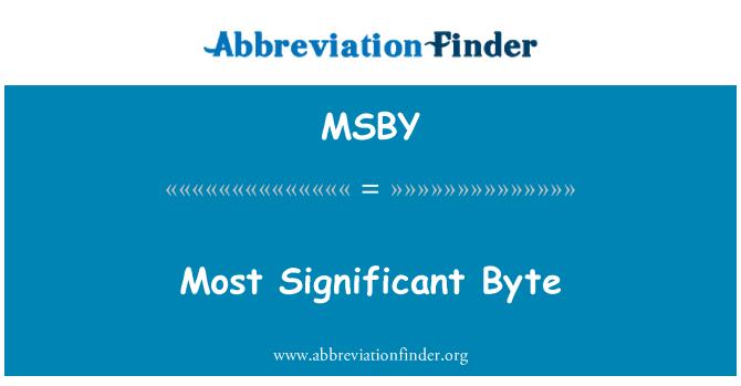 MSBY: 最重要的字节