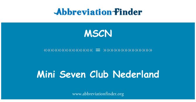 MSCN: Mini Club siete Nederland