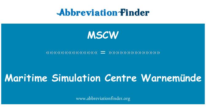 MSCW: Deniz Simülasyon merkezi Warnemünde