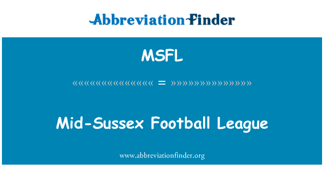 MSFL: Mid-Sussex Football League