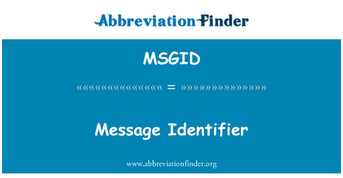 MSGID: İleti tanımlayıcısı