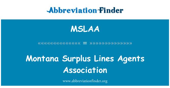 MSLAA: Montana Surplus Lines Agents Association