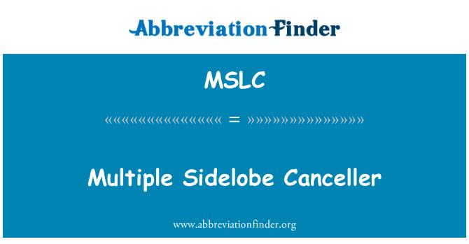 MSLC: Cancelador de retono múltiples