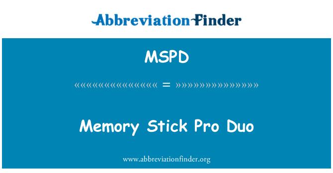 MSPD: Memory Stick Pro Duo