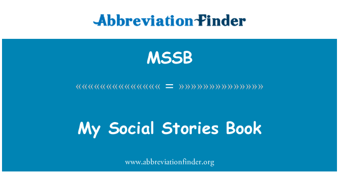MSSB: My Social Stories Book