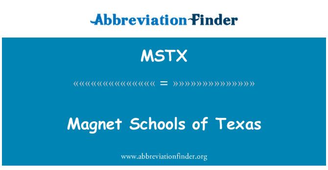 MSTX: Magnet Schools of Texas