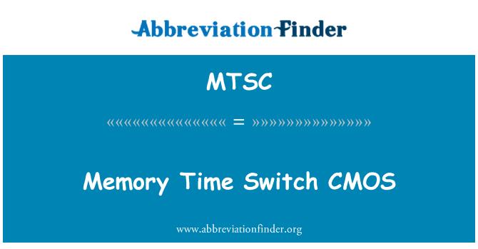 MTSC: Interruptor de tiempo de la memoria CMOS