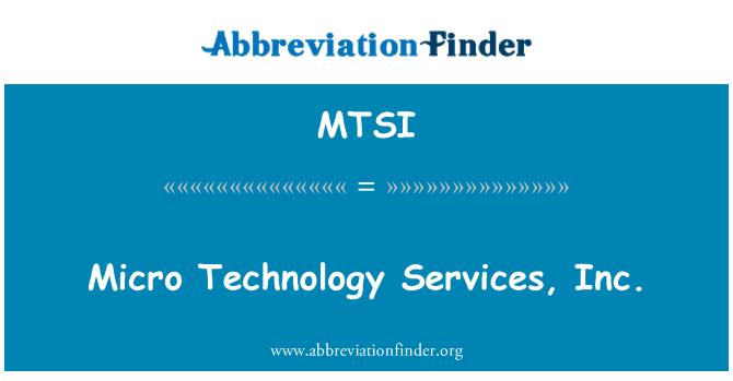 MTSI: Mikro technologijos Services, Inc