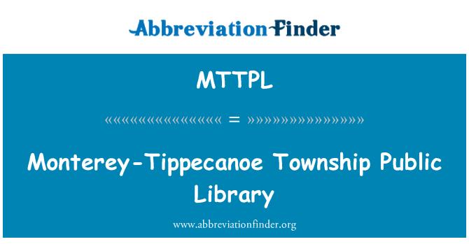 MTTPL: Monterey-Tippecanoe Township Public Library