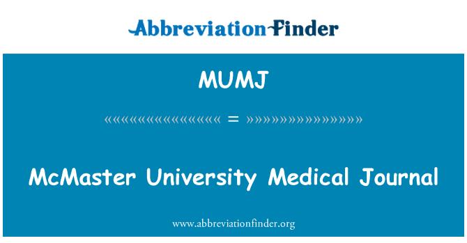 MUMJ: McMaster University Medical Journal