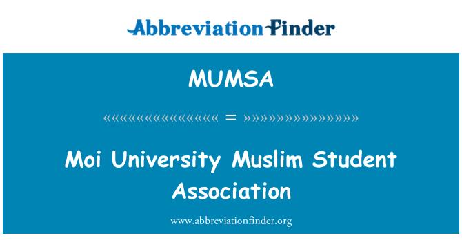 MUMSA: Moi University Muslim Student Association