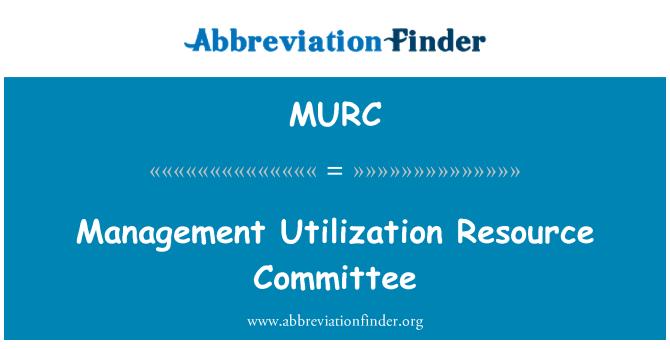 MURC: Comité de gestión la utilización de recursos