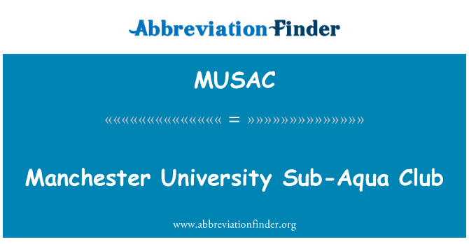 MUSAC: Manchester University Sub-Aqua Club