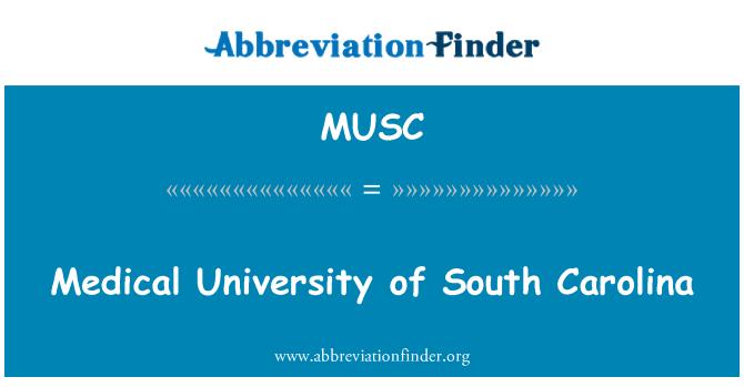 MUSC: Medical University of South Carolina