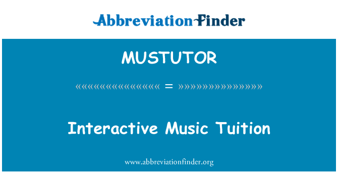 MUSTUTOR: Interactive Music Tuition