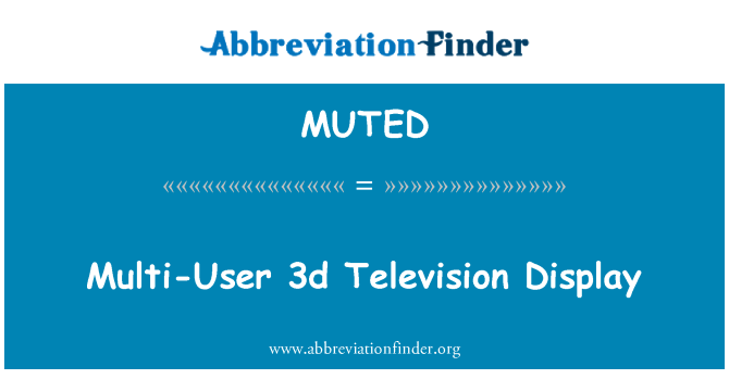 MUTED: Multi-User 3d Television Display