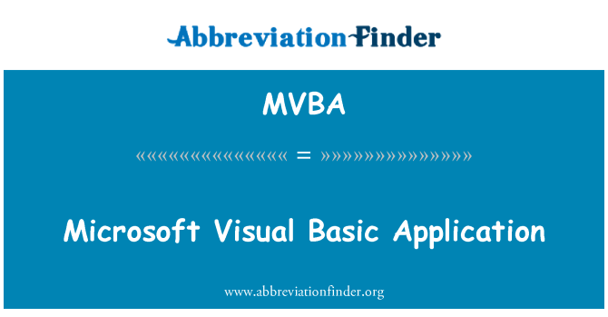 MVBA: Aplicación de Microsoft Visual Basic