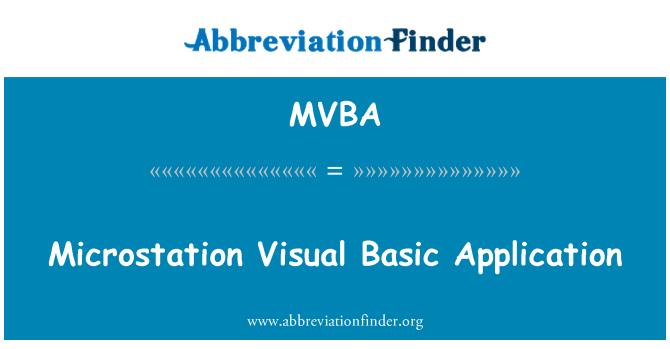 MVBA: Aplicación básica de MicroStation Visual