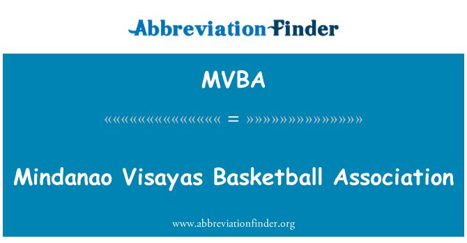 MVBA: Asociación de baloncesto de Visayas Mindanao