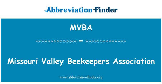 MVBA: Asociación de apicultores del Valle de Missouri