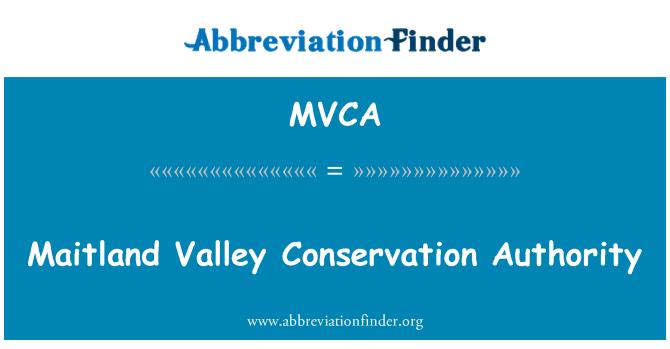 MVCA: Maitland Vadisi Koruma Kurumu