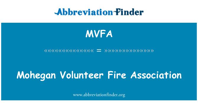 MVFA: Mohegan Volunteer Fire Association