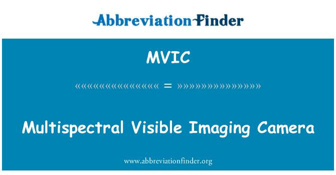 MVIC: Multispectral Visible Imaging Camera